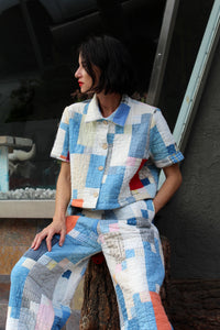 Patchwork Calico Quilt Crop Top