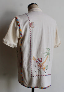 Mexican Cowboy Days of the Week Linen Fringe Shirt