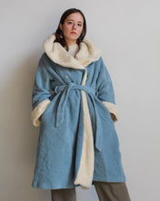 Load image into Gallery viewer, 1980s Sky Blue Sweater Coat