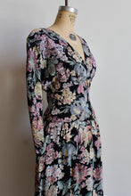 Load image into Gallery viewer, 1980s Floral Cinched Waist Dress