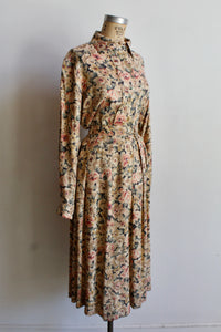 1980s Evan Picone Floral Rayon Two Piece Set