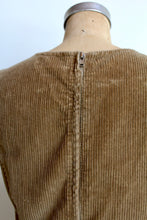 Load image into Gallery viewer, 1970s Tan Corduroy Jumper Dress