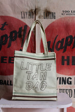 Load image into Gallery viewer, 1970s Little Tan Canvas Tote Bag