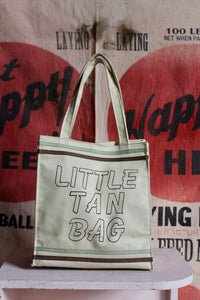 1970s Little Tan Canvas Tote Bag