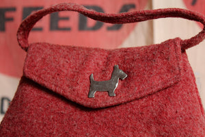 1940s Felted Wool Scottie Dog Purse