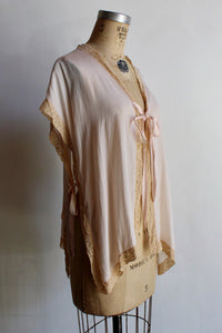 1930s Pink Silk Bed Jacket
