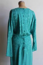 Load image into Gallery viewer, 1980s Silk Turquoise Midi Dress