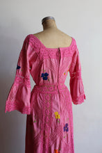 Load image into Gallery viewer, 1970s Pink Crochet Mexican Wedding Dress