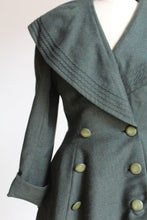 Load image into Gallery viewer, 1940s Green Wool Princess Jacket