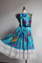 Load image into Gallery viewer, 1930s-40s Mexican Huipil Dress - Silk Embroidered Blouse + Skirt Set