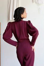 Load image into Gallery viewer, 1970s Fitted Plum Jumpsuit