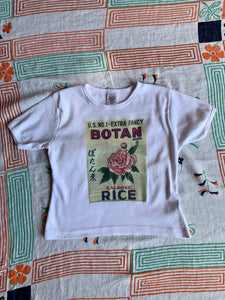 Botan Rice Vintage White Crop Top - M