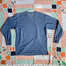 Load image into Gallery viewer, Botan Rice Vintage Blue Long Sleeve Shirt - M