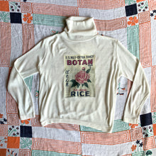 Load image into Gallery viewer, Botan Rice Vintage White Turtleneck Sweater - M/L