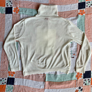 Botan Rice Vintage White Turtleneck Sweater - M/L