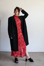Load image into Gallery viewer, 90s Red Floral Crepe Cheongsam