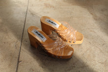 Load image into Gallery viewer, 1990s Wood + Plastic Platform Clogs by Buffalo Shoes