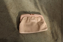 Load image into Gallery viewer, 1970s Pastel Pink Leather + Plastic Clutch