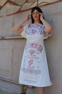 Hikari Pagoda Sleeve Rice Bag Dress