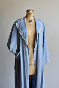 1950s Baby Blue Diamond Jacquard Dressing Gown