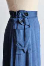 Load image into Gallery viewer, 1950s Blue Sharkskin Pencil Skirt