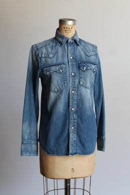 1990s Denim Western Shirt