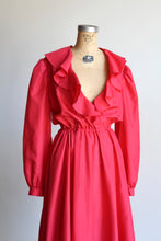 Load image into Gallery viewer, 1970s Neon Pink Ruffle Dress