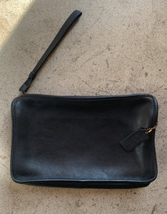 90s Coach Black Leather Wristlet