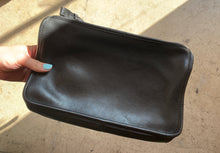 Load image into Gallery viewer, 90s Coach Black Leather Wristlet