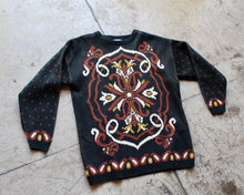 Load image into Gallery viewer, 1980s Paisley Floral Knit Pullover Sweater