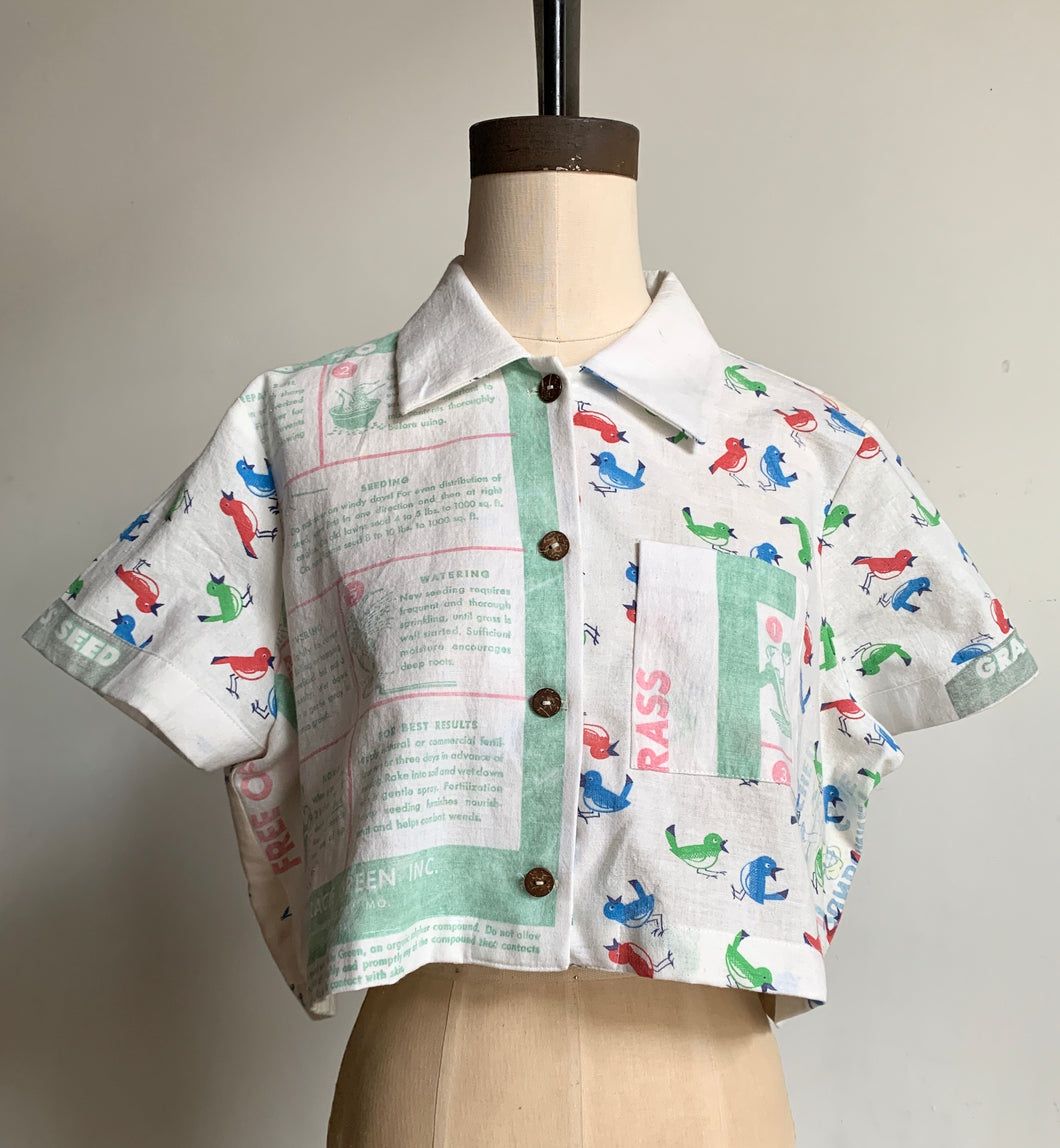 The Birds and the Bees Cropped Button-up