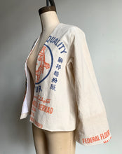 Load image into Gallery viewer, 5 Tigers Cropped Flour Sack Jacket