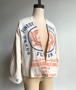 5 Tigers Cropped Flour Sack Jacket
