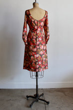 Load image into Gallery viewer, 1960s Pink Fruit Tree Silk Wiggle Dress