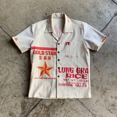 Gold Star Rice Sack Button-Up