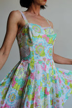 Load image into Gallery viewer, 1960s Pastel Flower Playsuit