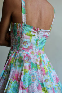 1960s Pastel Flower Playsuit