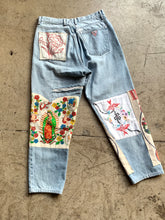 Load image into Gallery viewer, Mary's Patchwork Guess Jeans