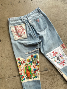 Mary's Patchwork Guess Jeans