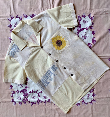 Special Alpine Sunflower Button-Up Top by 3 Women