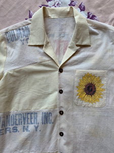 Sunflower and the Crane Button-Up