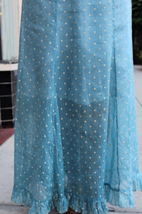 1930s Baby Blue Polka Dot Organza Dress + Bolero Set