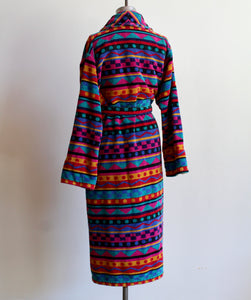 1980s Colorful Robe with Belt