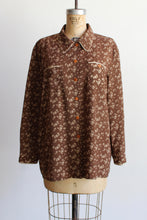 Load image into Gallery viewer, 1990s Brown Floral Lounge Blouse