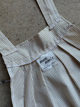 Load image into Gallery viewer, 1970s Seersucker Muted Pinstripe Pinafore Tent Dress