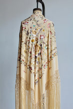 Load image into Gallery viewer, 1930s Deadstock Embroidered Silk Canton Piano Shawl