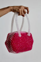 Load image into Gallery viewer, 1960s Hot Pink Plastic Beaded Handbag