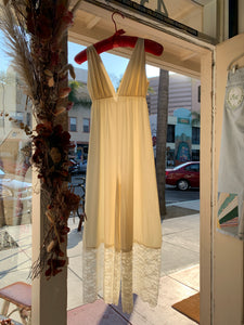1960s Ivory Nylon + Lace Jumpsuit
