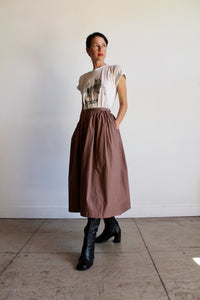 1980s Polished Cotton Gaucho Pants