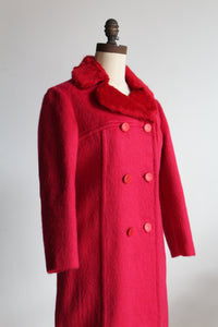 1960s Hot Pink Mohair Coat